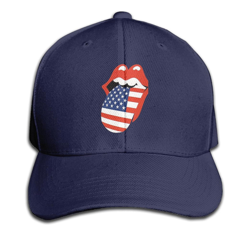 Unisex Hats Rolling Stone Tour Of America Ash Flat Peak Personalized Cap