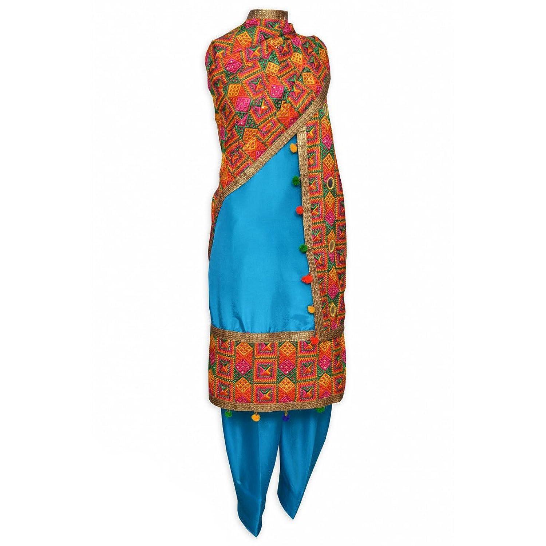 Spacial Punjabi Patiala Phulkari Salwar Suit Hand Embroidered From ...