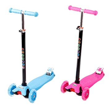Funtomia Mini Scooter Kinder Roller Tretroller Kickscooter Mit 4 Led