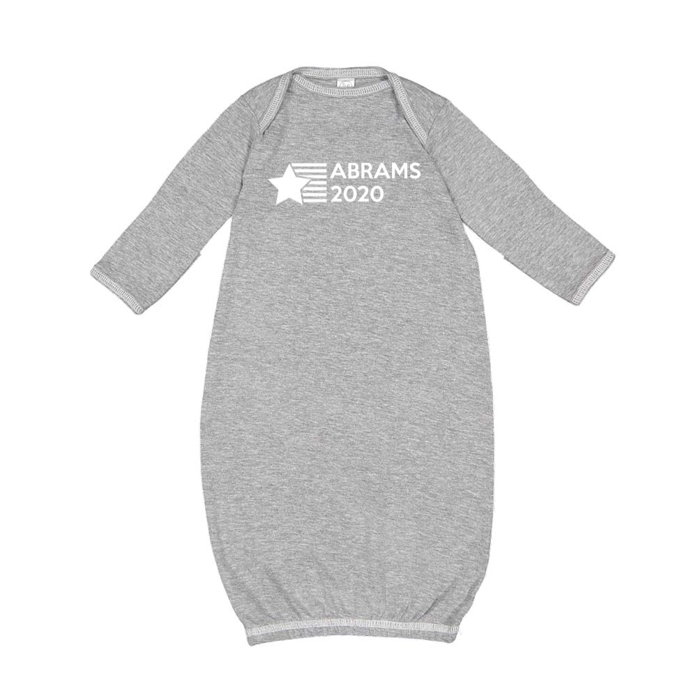 Abrams 2020 Presidential Election 2020 Baby Cotton Sleeper Gown Star//Stripes