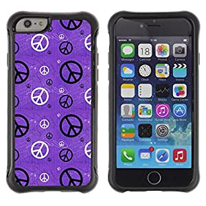 King Case@ Hippie Sign Symbol Peace Wallpaper Art Rugged hybrid Protection Impact Case Cover For iPhone 6 Plus CASE Cover ,iphone 6 5.5 case,iPhone 6 Plus cover ,Cases for iPhone 6 Plus 5.5