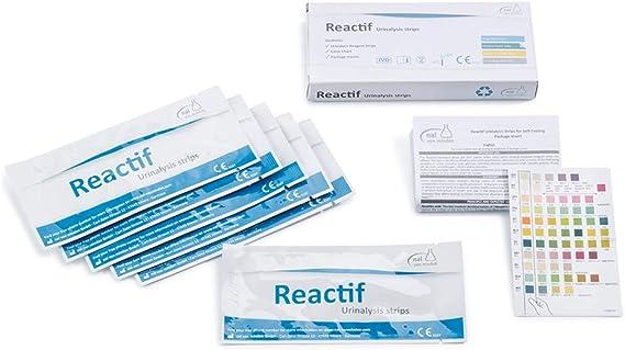Test de orina Reactif con 11 indicadores - 6 tiras reactivas Test rápido con escala de colores - Infección de las vías urinarias