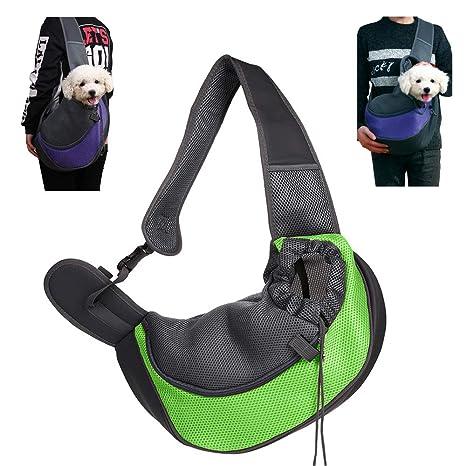 95street Mochilas para Perros Gatos, Portador para Mascotas Pequeñas, Transportín para Mascotas Mochila al Aire Libre del Viaje para Mascotas del Peso ...