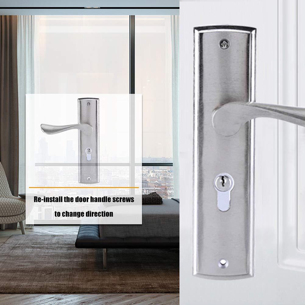 Cerradura de puerta de aleaci/ón de aluminio con llaves y accesorios