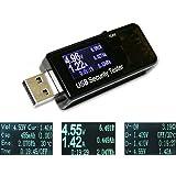 USB電流電圧テスター チェッカー 3-30V/0-5.1A 急速充電QC2.0/QC3.0/MTK-PE/iphone2.4Aなど対応