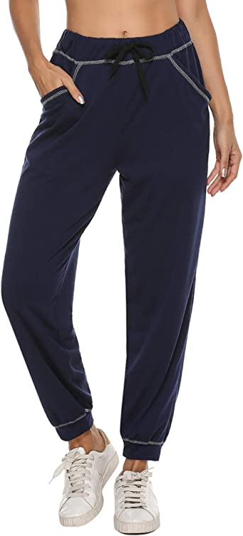 iClosam Pantalones Chandal Mujer Casuals Rayas AlgodóN De Deportivos Yoga Jogger Pantalon Sweatpants con Bolsillos Primavera Otoño: Amazon.es: Ropa y accesorios
