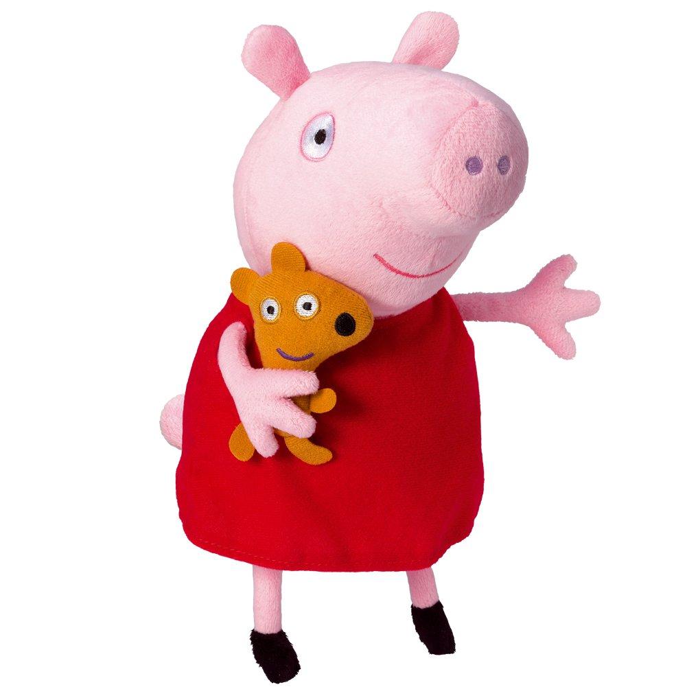 Peppa Pig 84255 - Peluche Peppa con voz Bandai 10-84255