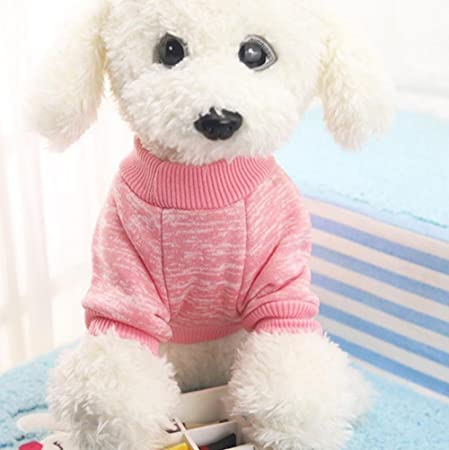 Oferta amazon: Mascotas Perro Ropa Abrigo Sudadera Invierno Mascota Perro Ropa Tejer Animales requisitos de Dog Pet Clothes