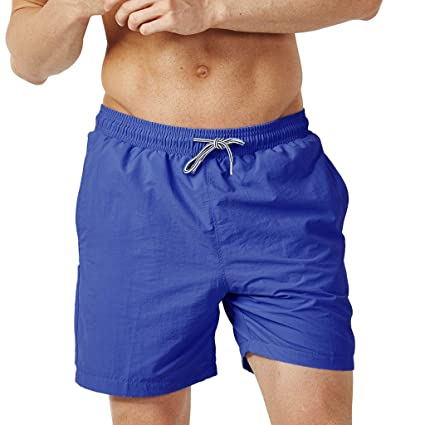 ae73a17c54 Amazon.com: Men's Black Beach Shorts, Male Fashion Solid Color Swim  Underwear Casual Holiday Beachwear Trunks Fitness Trousers: Kitchen & Dining