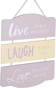 Family Live Laugh Love Wall Decor, Home Decor Sign Perfect for Living Room, Bedroom, Inspirational and Motivational Quotes Posters Home Decoration Wall Art, Wood Hanging Sign 8.7''x7.8''