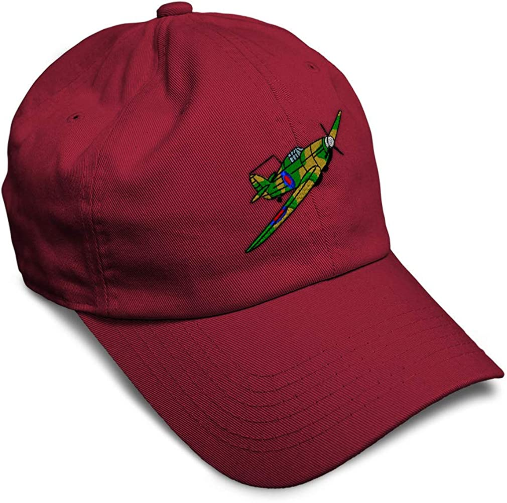 Custom Soft Baseball Cap Plane Hawker Hurricane Embroidery Twill Cotton