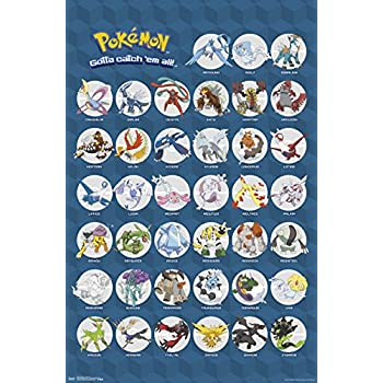Amazon Pokemon Pokedex Poster Print 13x19 Posters Prints