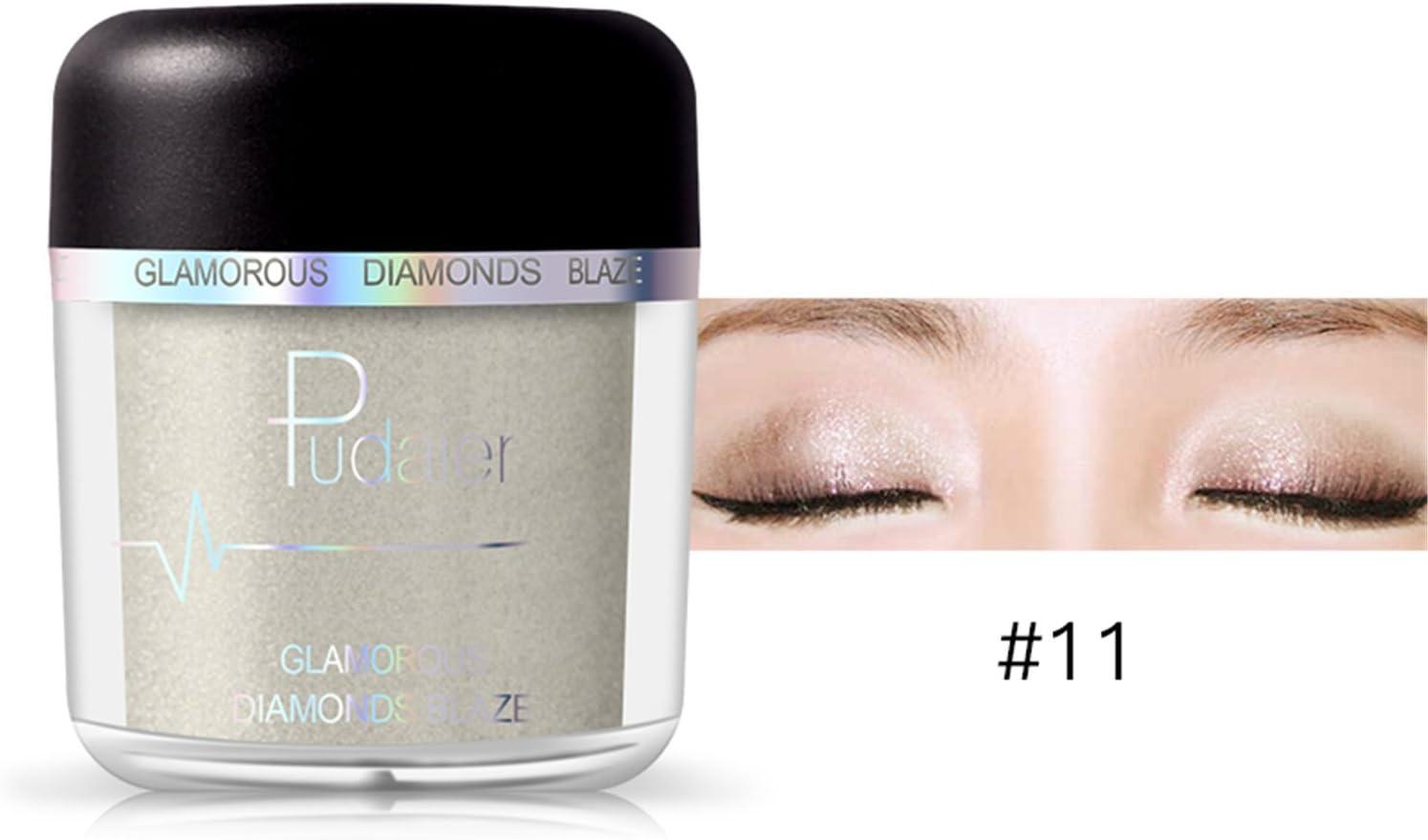 Pure Vie 1 Color Sombra De Ojos Paleta Brillo Polvo Metálico de Maquillaje Cosmética - Perfecto para Profesional y Diario #11
