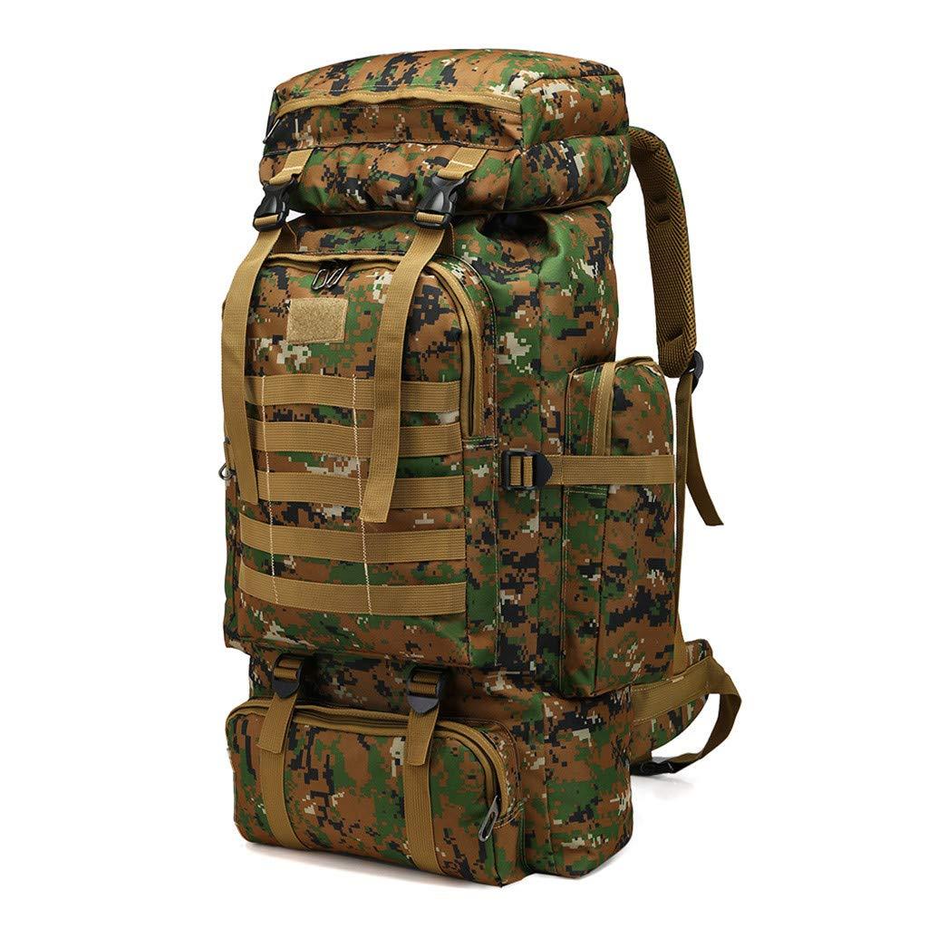 Luotuo Sac /à Dos ext/érieur,Sac de Sac /à Dos dext/érieur Camouflage Grande capacit/é 80L Ext/érieur Escalade Paquet Camping Sac a Dos Militaire Sac /à Dos Tactique avec