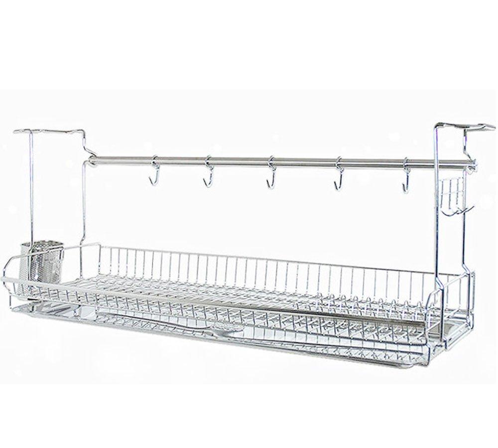 Stainless Kitchen Cabinets Mount Dish Drying Shelf Kitchen Organizer