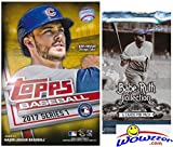 #7: 2017 Topps Series 1 MLB Baseball EXCLUSIVE Factory Sealed Hanger Box with 72 Cards including (2) MLB Award GOLD PARALLELS Plus BONUS Babe Ruth Collection Pack! Look for Autograph & Relics! Wowzzer!