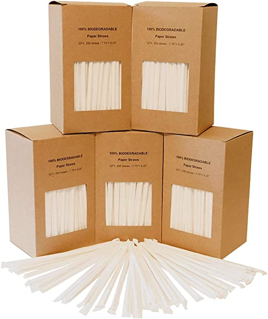 1000 pajitas biodegradables Koopla: Amazon.es: Hogar
