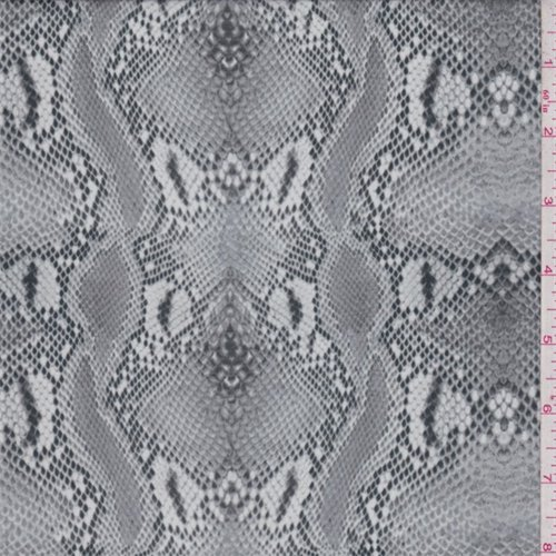 Pumice Snakeskin Print Crepe de Chine, Fabric By the Yard