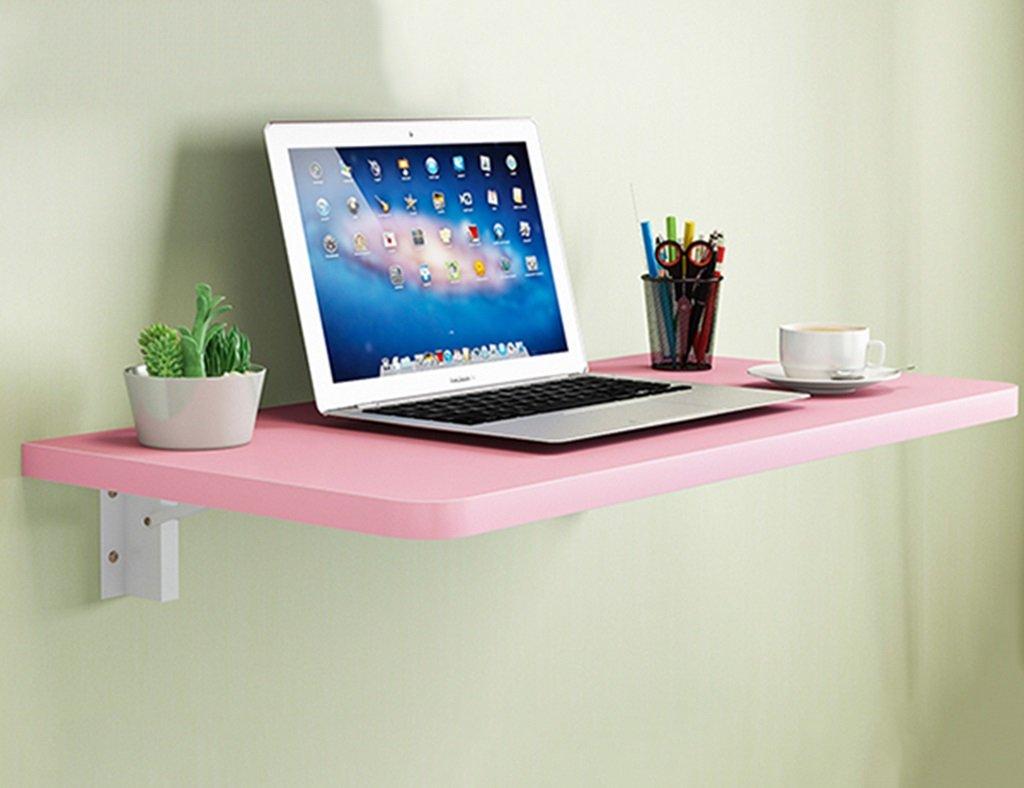 CCJW Tavolo Pieghevole Compatto Tavolo da Pranzo Pieghevole Pieghevole Foglia Muro, scrivania in Legno massello Tavolo da Lavoro per Bambini apprendimento, Colore Rosa, 15 Dimensioni Opzionale Tavolo