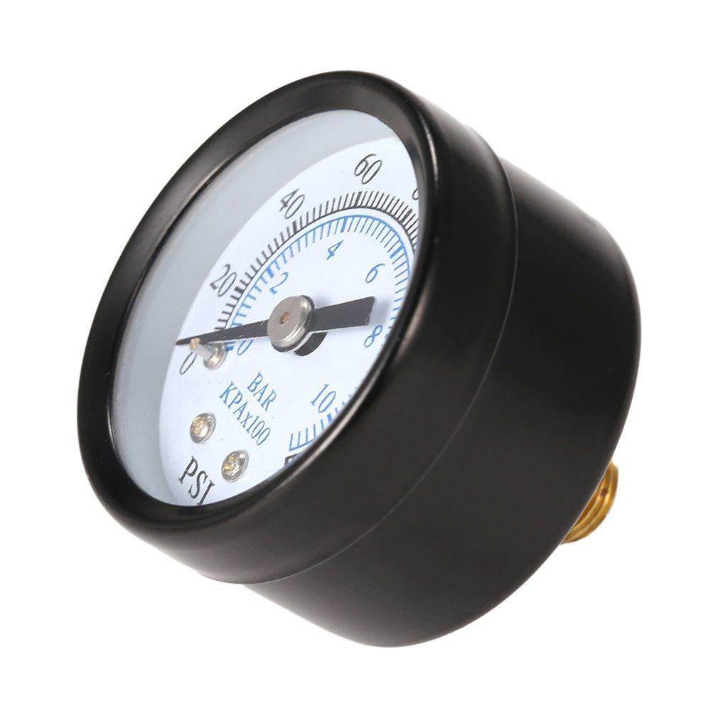 Sunsbell Professionelle 1/8 inch 160Psi 0-10bar Kompressor Druckluft-Manometer