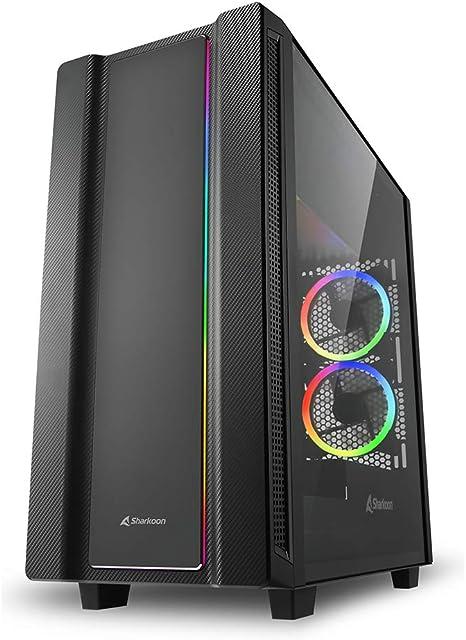 Sharkoon REV220 RGB - Caja de Ordenador, PC Gaming, Semitorre ATX, Negro: Amazon.es: Informática