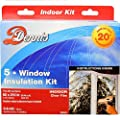 Window Insulation Kit - Shrink Film and Double Sided Tape for 5 Windows