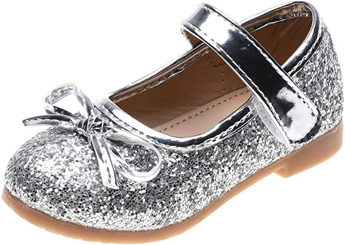 Toddler Infant Kids Baby Girls Bling Sequins Dance Princess Shoes Sandals 12M-7T