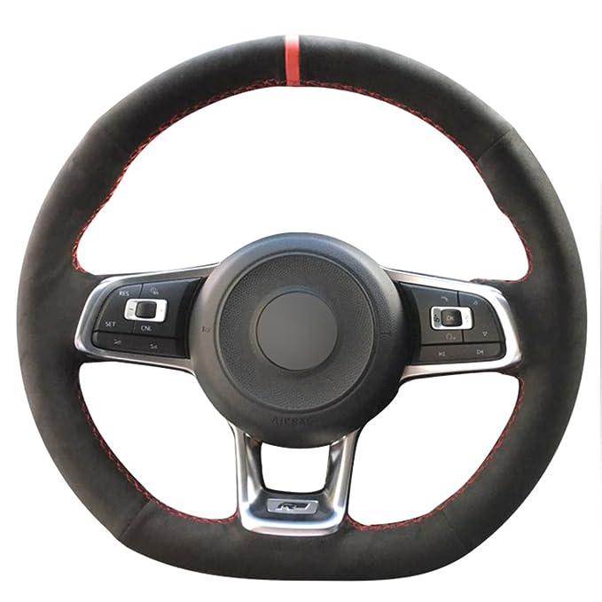Amazon.com: JI Loncky - Fundas de volante de ante para ...