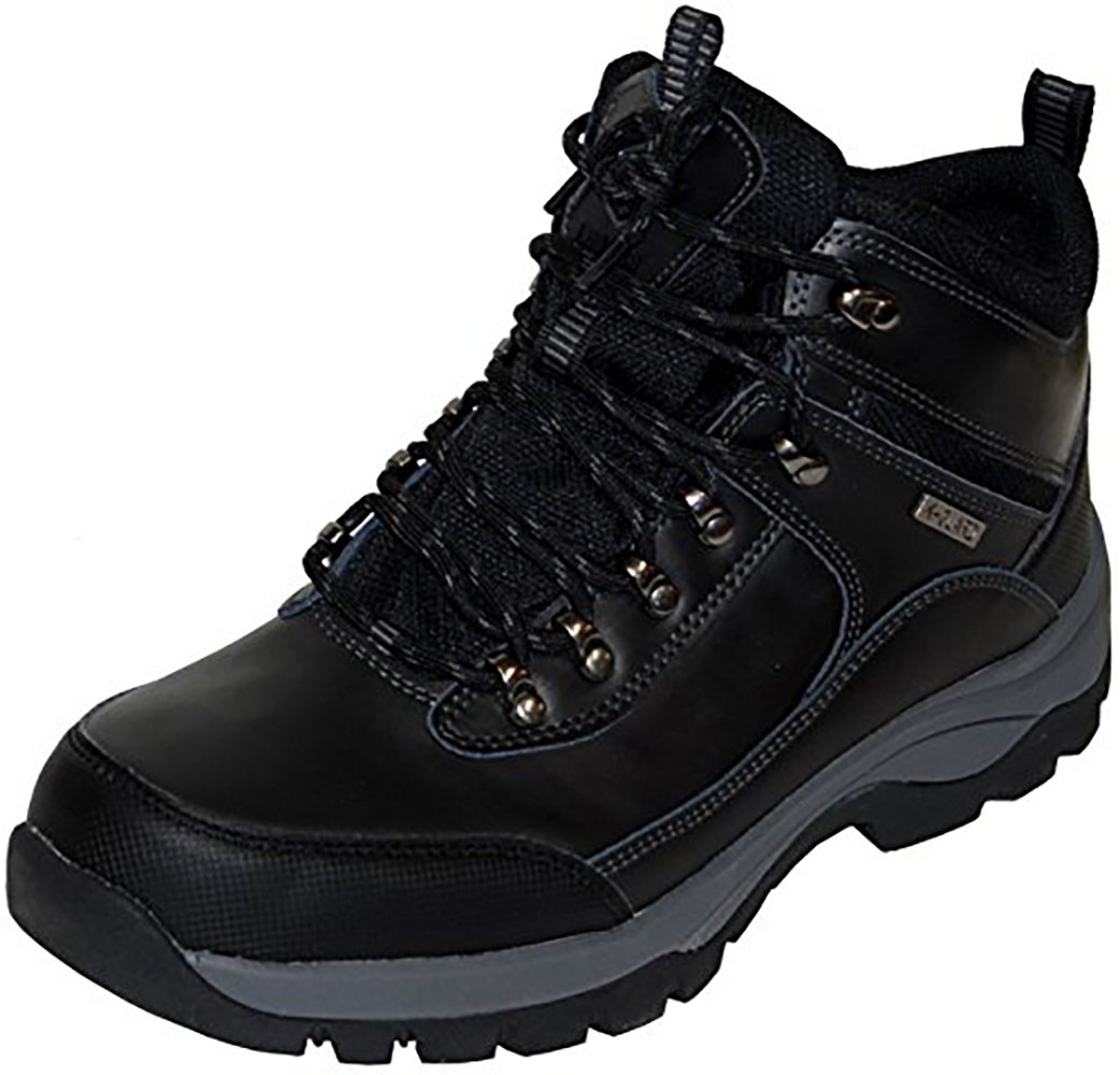Khombu Summit Men's Leather Hiking Outdoor Tactical Black Boots - Size 8