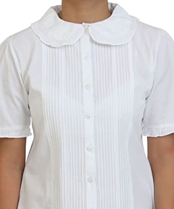 Vintage algodón Peter Pan blusa de precisa patrones para ...
