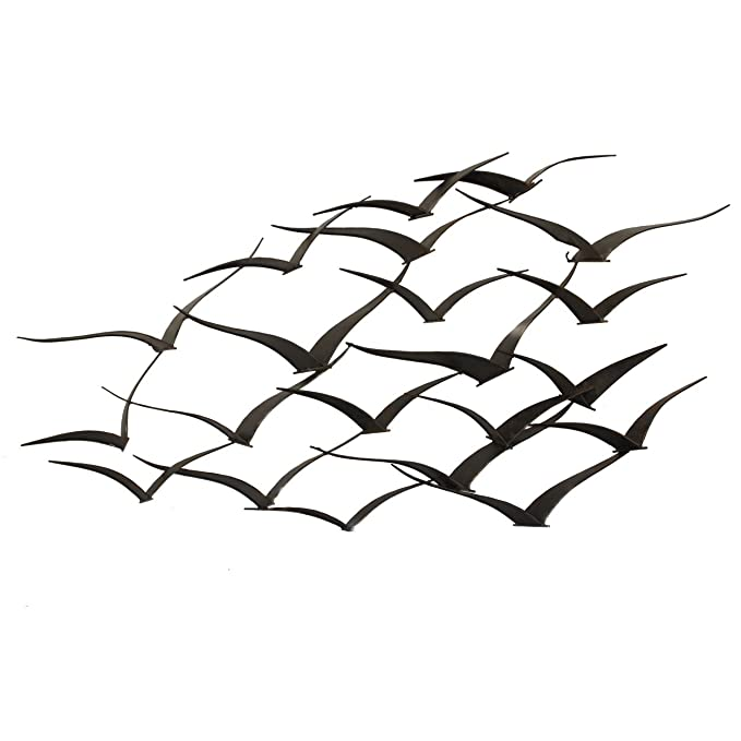 urban designs handcrafted flock of birds metal wall art amazon co Baseboard Drainage urban designs handcrafted flock of birds metal wall art amazon co uk kitchen home