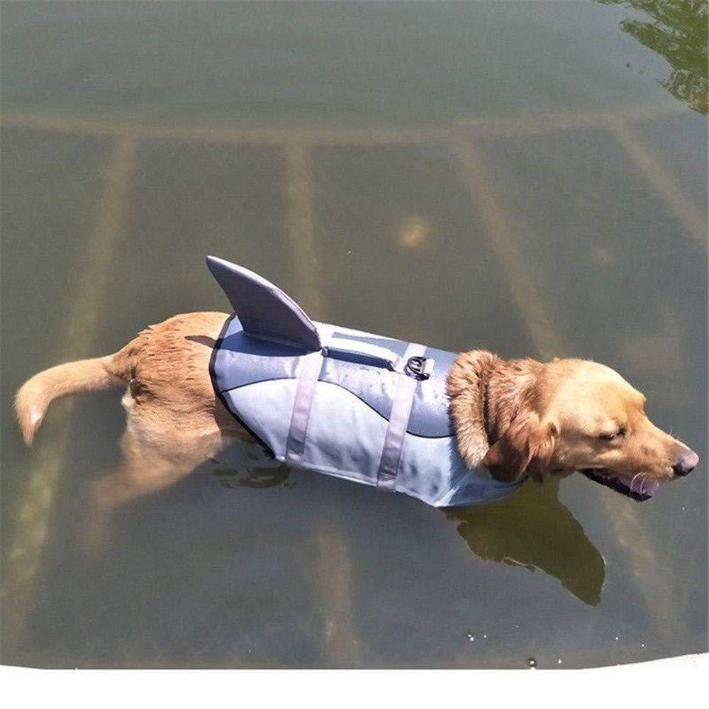 OOFAYWFD Perro Life Jacket Gran Mascota Flotador Abrigo Perros Salvavidas Chaleco De Seguridad Tiburón Tamaño S M L,L: Amazon.es: Hogar