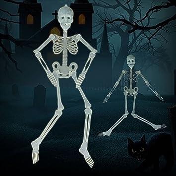 Amazon.com: Glow in the Dark Hanging Skeleton - Scary Halloween ...