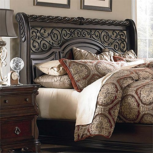 - Liberty Furniture Arbor Place Queen Sleigh Headboard in Brownstone