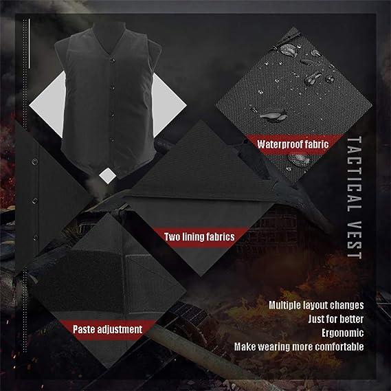 BININBOX Gilet de protection anti-couteaux en acier tungst/ène pour protection contre les coups avant et arri/ère