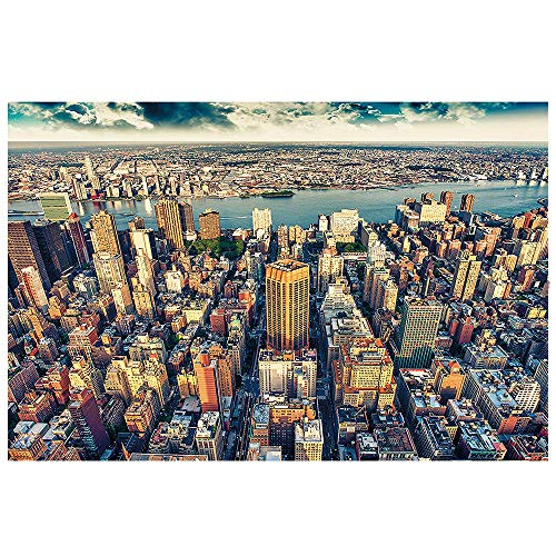 GREAT ART Wallpaper New York City Skyline Wall Picture Decoration Sundown Manhattan America USA Big Apple NYC Poster 132.3x93.7 Inch / 336x238 ()