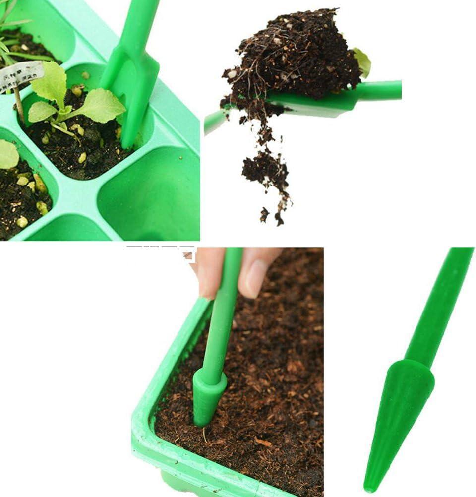 trapiantatrice e spatola Set di mini attrezzi da giardinaggio Amgateeu set da 3 pz con mini vanga piantatoio con impugnatura a pistola rastrello e pala Seminatore