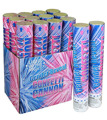 Gender Reveal Confetti Cannon It's A Boy- 6 Pack -