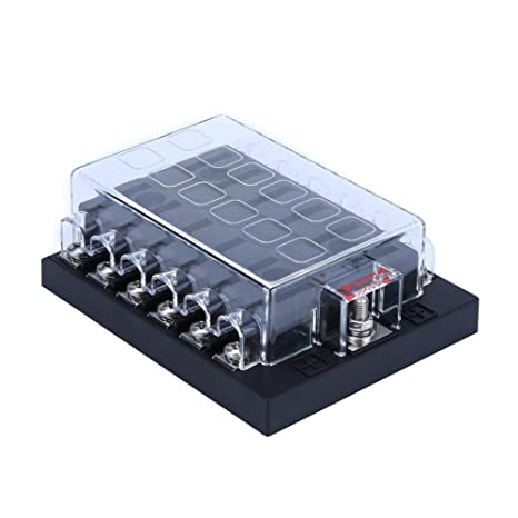 amazon com fuse boxes, 12 way car modified parts fuse box fuse Car Power Outlet Fuse image unavailable