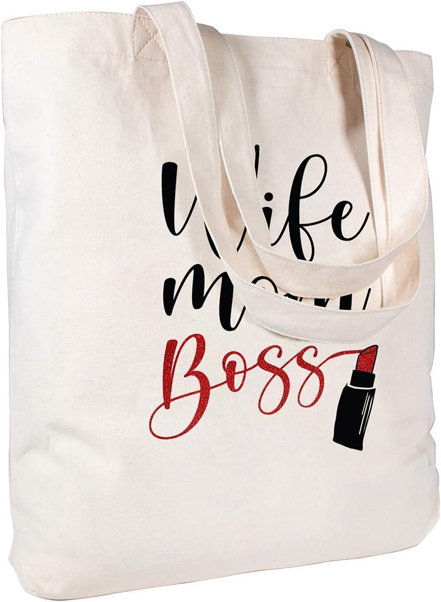 Teach Like a Boss bag book bag tote bag reusable bag library bag canvas bag hipster bag glasses