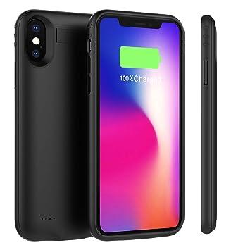 Funda Batería iPhone Xs Max, BasicStock 5200mAh Batería Externa Recargable Ultra Delgada Protector portátil Carga caso de prueba de choque para iPhone ...
