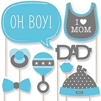 Superb Baby Boy   Baby Shower Photo Booth Props Kit   20 Count