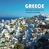Greece Mini Wall Calendar 2018: 16 Month Calendar