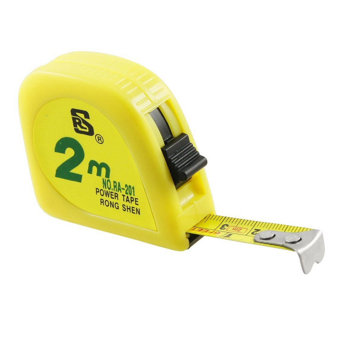 RETYLY Capsule de metal jaune 2 metres 6 FT ruban dechelle ruban a mesurer
