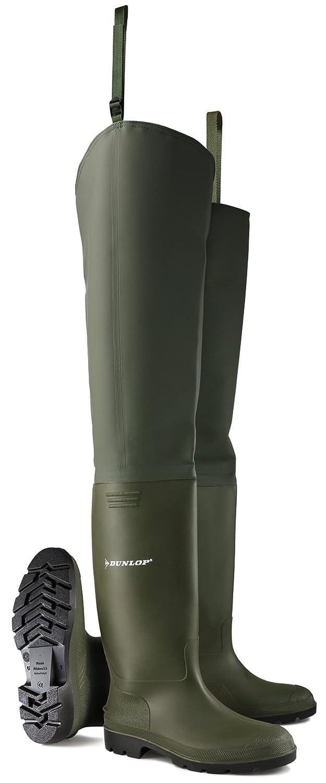 Dunlop Pricemastor la cuisse échassier botte - 386VP Vert 46 EU