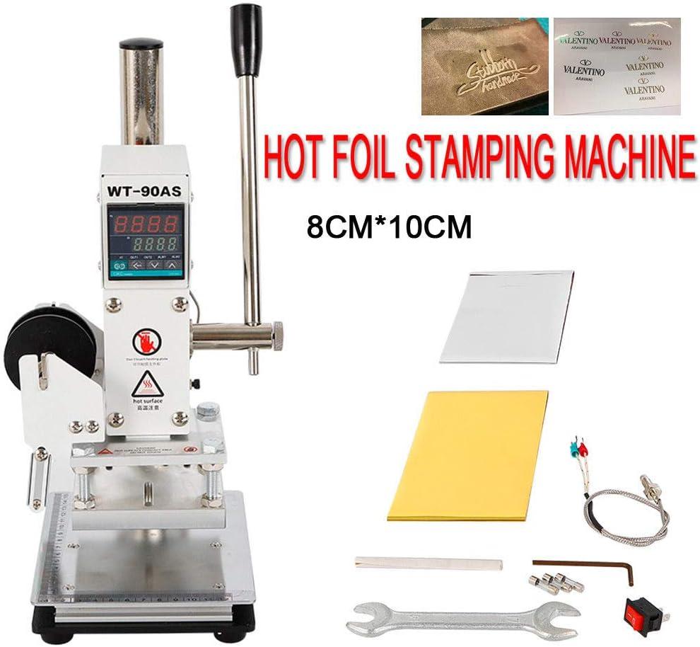 Control de temperatura digital Máquina de estampado en caliente 8 * 10 cm: Amazon.es: Hogar