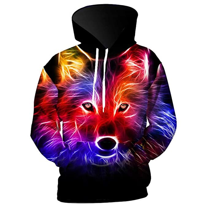 05ddfe9a1edc Casual Unisex 3D Sweatshirt Animal Dog Wolf Printed Funny Pullover ...