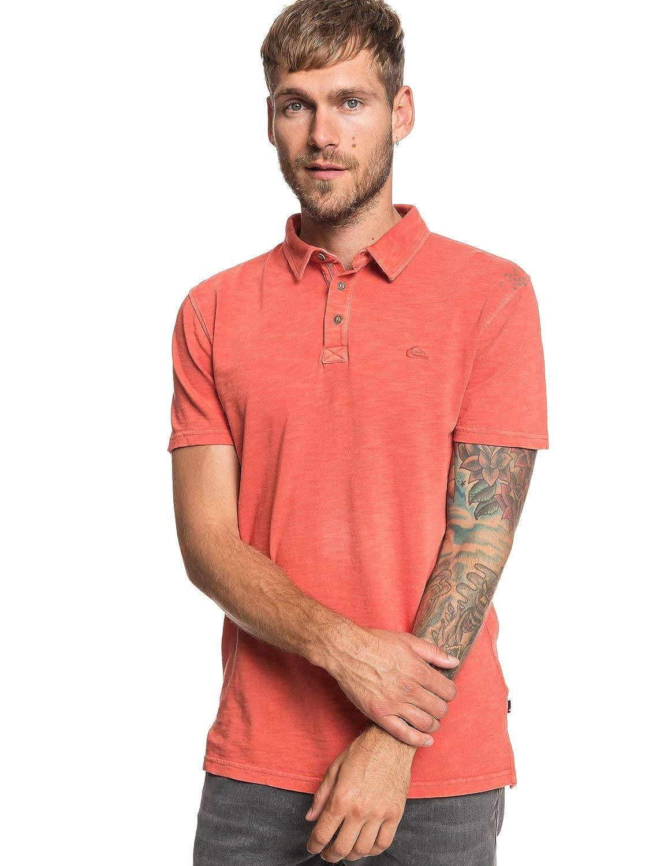 02438a7136 Quiksilver Everyday Sun Cruise - Short Sleeve Polo Shirt - Men - XS -  Orange  Quiksilver  Amazon.co.uk  Clothing