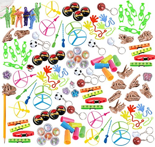 120 Piece Bulk Party Favor Bundle Assortment Pack of Toys for Parties, Pinatas, Claw Machines, Classroom or Carnivals -