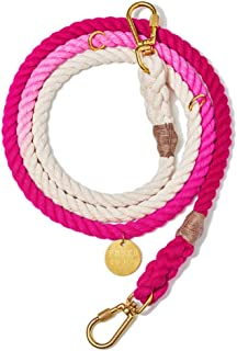 product image for Found My Animal Magenta Ombre Cotton Rope Dog Leash, Adjustable Medium